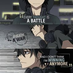This reminded me of Nico di Angelo I don't know why Sad Anime Quotes, Manga Quotes, Anime Depression, Depression Quotes, Hugot, Dark Quotes, Amazing Quotes, True Words, True Quotes