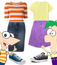 duo halloween costumes Bff outfits - Bffs - Phineas and Ferb - Modest Outfits - costumes - Cute teen costumes - modest costumes - duo halloween costumes Bff outfits - Bffs - Phineas and Ferb - Mod Cute Teen Costumes, Modest Costumes, Halloween Costumes For Teens Girls, Cute Group Halloween Costumes, Twin Halloween, Halloween Outfits, Modest Outfits, Group Costumes, Costumes Kids