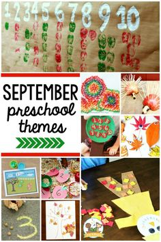 Curriculum themes and activities for start of school; September for preschool, pre-k, and kindergarten; Pre-K beginning of year. September Preschool Themes, Preschool Apple Theme, September Themes, Fall Preschool, Preschool Lesson Plans, Preschool Curriculum, Preschool Activities, Vocabulary Activities, Homeschooling