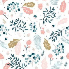 By Cathy Westrell Nordström, founder of Studio Lilla Form: Pastel pattern leaves flowers (Cool Summer Illustration) Pastel Pattern, Pattern Art, Nature Pattern, Textile Patterns, Flower Patterns, Print Patterns, Illustrator, Guache, Groomsmen
