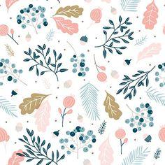 By Cathy Westrell Nordström, founder of Studio Lilla Form: Pastel pattern leaves flowers (Cool Summer Illustration) Textile Patterns, Flower Patterns, Print Patterns, Pastel Pattern, Pattern Art, Nature Pattern, Illustrator, Guache, Motif Floral