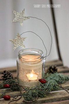 photophore noel DIY Christmas star lantern of paper Star Lanterns, Christmas Lanterns, Lanterns Decor, Ideas Lanterns, Christmas Candle, Diy Christmas Star, All Things Christmas, Christmas Time, Christmas Ornaments