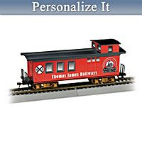 Personalized Caboose Train Car