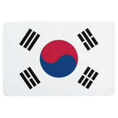 Flag of South Korea Korean White Red Blue Taegeuk Circle Black Trigrams Taiji Yinyang Taegeukgi Quilt Square, 10 by Minecraft Banner Designs, Minecraft Banners, South Korea Flag, Patriotic Posters, Korean Flag, Flag Art, Asian Home Decor, Flags Of The World, National Flag