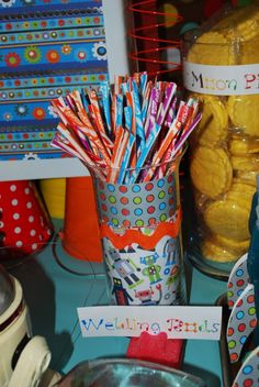 Robot Birthday Party Food - Welding Rods