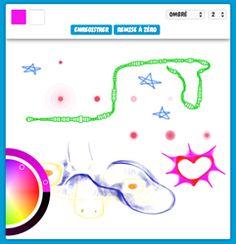 Une application de dessin ultra-simple à utiliser par les enfants, avec de jolis effets de traits.