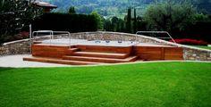 Nuova edificazione villa unifamiliare - Solarium con grande vasca idromassaggio e bagnasciuga - Maria Teresa Azzola Designer - Gorlago (BG) 2014