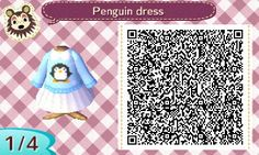 Penguin Dress ACNL QR Code.