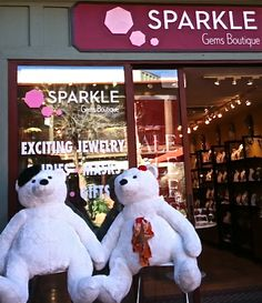 Monsieur and Mademoiselle Bear await your visit to SPARKLE!