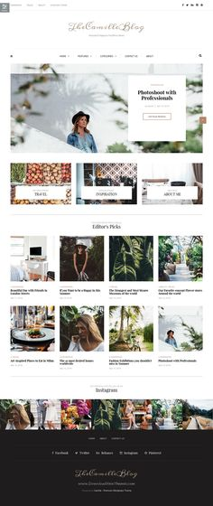 Camille is a very stylish, elegant and powerful multipurpose #WordPress blog #theme perfect for any personal blog. #travelblog Download Now!