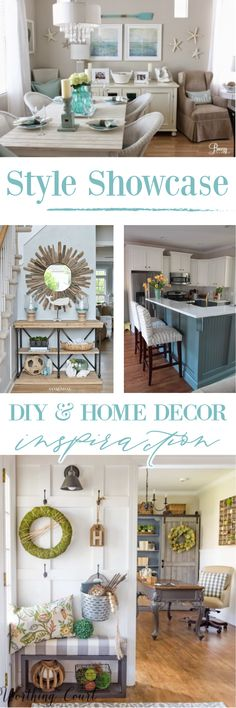 A Collection of Home Decorating and DIY Project Ideas & Inspiration for Everyday and Seasonal Decor! View them all at Fox Hollow Cottage blog - www.foxhollowcottage.com New Living Room, Living Room Sets, Decorating Your Home, Diy Home Decor, Urban Cottage, Blogger Home, Best Places To Live, Maine House, Cottage Homes
