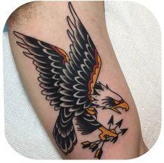 Bald Eagle Becca Genné-Bacon The End Is Near/Hand of Glory Tattoo Brooklyn New York