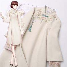 Dress Brukat, Diy Dress, Mode Kpop, Dress Sketches, Fashion Design Sketches, Oriental Fashion, Kawaii Clothes, Japan Fashion, Traditional Dresses