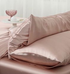 Ultimate Luxury Soft Pink Silk Pillowcase Pink Silk, Pillowcases, Bed Pillows, Luxury, Shopping, Pillows, Pillow Case Dresses, Pillow Protectors, Pillow Covers