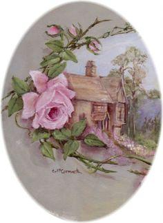 Vintage çiçek.  Avustralyalı çağdaş sanatçı Gail McCormack