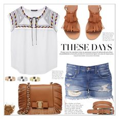 """""""These Days"""" by christinacastro830 ❤ liked on Polyvore featuring Violeta by Mango, Salvatore Ferragamo, Warehouse and Topshop"""