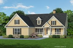 This farmhouse design floor plan is 2115 sq ft and has 3 bedrooms and has 2 bathrooms. Country Style House Plans, Craftsman Style House Plans, Ranch House Plans, Dream House Plans, Small House Plans, House Floor Plans, 3 Bedroom Home Floor Plans, Craftsman Homes, Farmhouse Plans