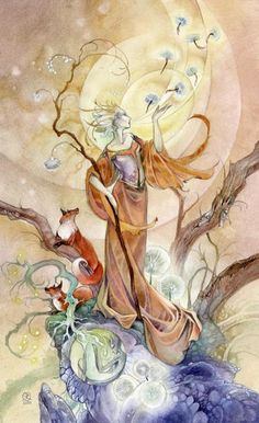 Stephanie Pui-Mun Law - Shadowscapes Tarot - Fantasy Art Queen of wands Fantasy Kunst, Fantasy Art, Eight Of Wands, Art Magique, Illustrator, Mystique, Oracle Cards, Tarot Decks, Faeries