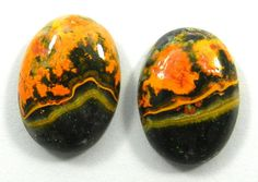 22.45CT 1 PAIR GOOD QUALITY NATURAL BUMBLE BEE ECLIPSE 13x17mm OVAL GEMSTONE #Shining_Gems