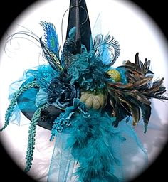 Peacock Garden Witch Hat Witch Hat Halloween Costume Accessories WH-110