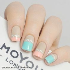 Opting for bright colours or intricate nail art isn't a must anymore. This year, nude nail designs are becoming a trend. Here are some nude nail designs. Fabulous Nails, Perfect Nails, Nails Polish, Floral Nail Art, Trendy Nail Art, Manicure E Pedicure, Pastel Nails, Pink Nail, Pastel Art