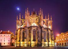 CZ - Prague - Chrám sv.Víta v noci