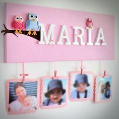 cuadros para fotos de bebes personalizados Nursery Letters, Nursery Prints, Nursery Decor, Baby Crafts, Diy And Crafts, Crafts For Kids, Baby Decor, Kids Decor, Art Room Doors