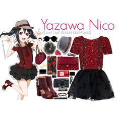 Yazawa Nico [Love Live! School Idol Project] by ibuperisesat on Polyvore