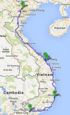 Two week itinerary for Vietnam. Wonderful Asian destinations, Vietnam welcomes you. http://dulichkhanhhoa.net.vn
