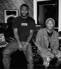 Frank Ocean & Pharrell Williams . Whatever they are creating in that studio, needs to bless my ears ASAP.