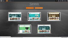 Genesis - Responsive Moodle Theme Cool Themes, Website Template, Desktop Screenshot, Wordpress, Templates, Stencils, Vorlage, Models