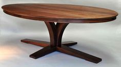 Dorset Custom Furniture - A Woodworkers Photo Journal: a double pedestal oval table Oval Table, Oval Table Dining, Pedestal Kitchen Table, Dining Table, Table, Walnut Dining Table, Oval Dining Room Table, Dining Table Marble, Oval Dinning Room Table