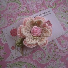 Shabby Chic Crochet Flower