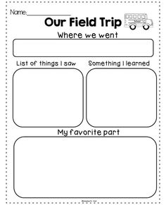 Field Trip Exhaustion {freebie} A great graphic organizer to help students reflect on a field trip.