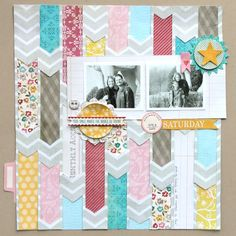 patterned papers woven thru neutral papers