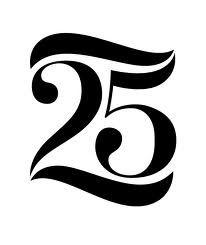 Nice custom type Typography Layout, Lettering, Typography Letters, Graphic Design Typography, Number Typography, 25 Year Anniversary, Anniversary Logo, Logo Aniversario, Logo Design Inspiration