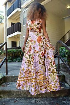 By Lili creation. Ivorian designer. #ivorycoast ~ African fashion, Ankara, kitenge, Kente, African prints, Braids, Asoebi, Gele, Nigerian wedding, Ghanaian fashion, African wedding ~DKK