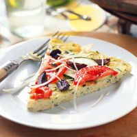 Zippy Zucchini Frittata Can't get enough zucchini? Try this egg dish that looks and tastes like pizza. Serve this colorful, cheesy entree with a salad, fruit, and bread. Diabetic Recipes, Low Carb Recipes, Healthy Recipes, Diabetic Foods, Healthy Eats, Diabetic Menu, Pizza Recipes, Eating Healthy, Dinner Recipes