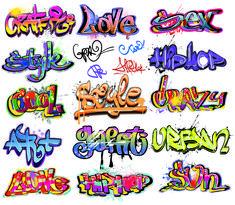 free vector Beautiful graffiti font design 01 vector