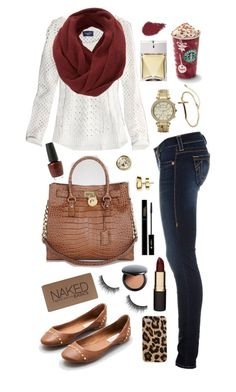 """""""December 4, 2012"""" by jennaxomelissa ❤ liked on Polyvore featuring American Eagle Outfitters, True Religion, MICHAEL Michael Kors, Steve Madden, SELECTED, Mimco, Urban Decay, shu uemura, Club Manhattan and OPI"""