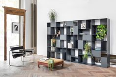 Modulares Bücherregal aus Metall B-302 by Mara Design BICUBE DESIGN