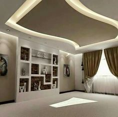 Wondrous Tips: False Ceiling With Wood Interior Design double height false ceiling lighting design.False Ceiling Section Drawing false ceiling design awesome.False Ceiling With Wood Interior Design. Pop False Ceiling Design, House Ceiling Design, Ceiling Design Living Room, False Ceiling Living Room, Ceiling Decor, Living Room Designs, Bedroom Ceiling, Ceiling Ideas, Living Rooms