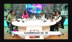 """En Antena TV, realizando difusión de """"Cuadernazo"""", invitando a la gente a donar"""