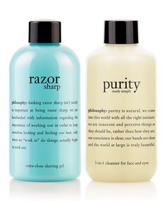 Take a look at this Purity Daily Facial Skin Cleanser & Razor Sharp Shaving Gel Set by philosophy on #zulily today!