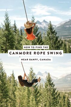 A guide to finding the Canmore rope swing just south of Banff National Park in Alberta, Canada. Full directions as well as some helpful tips you should know before you go like what to wear, how long it takes, and how to get the best photos. Alberta Travel, Banff Alberta, Alberta Canada, Parc National, Banff National Park, Canada Travel, Travel Usa, Canada Trip, Voyage Canada