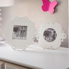 2 Piece Wood Lace Photo Picture Frames Set