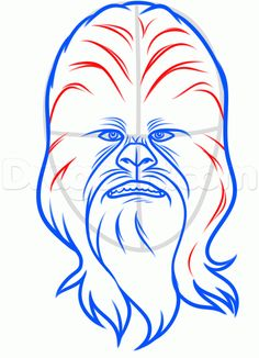 how to draw chewbacca easy step 6