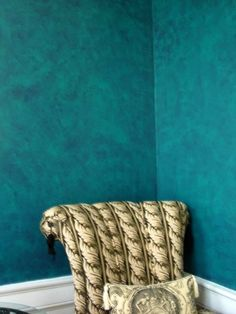 teal faux paint walls | Faux Finishes | Interior Effects