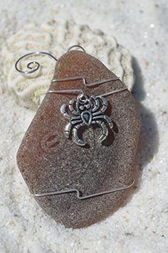 Genuine Brown Sea Glass Ornament with a Silver Cancer Cra... http://www.amazon.com/dp/B0151V9IUA/ref=cm_sw_r_pi_dp_Anysxb0R7NW33