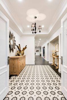 The North Hampton by Plunkett Homes Tiled entrance  Feature tile